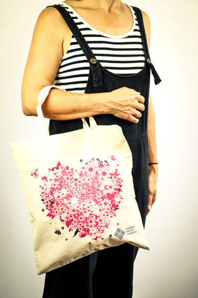 HVG Calico Bag - Floral Heart