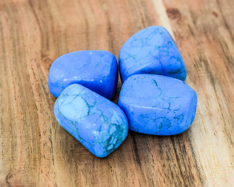 Blue Howlite Tumble Stone - pack 4