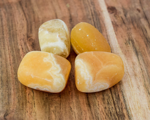 Calcite Tumble Stone - pack 4