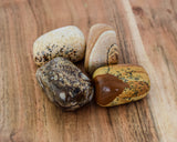 Picture Jasper Tumble Stone - pack 4