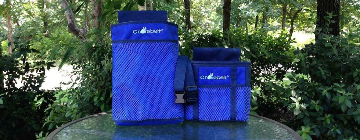 Cleaning Products Carrier. Pouch, Bag & Belt in Royal Blue