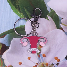 Load image into Gallery viewer, Grow A Pair Ovarian Keychain