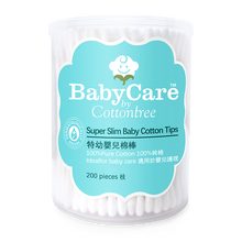 Load image into Gallery viewer, BabyCare Super Slim Baby Cotton Tips