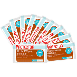 Protector 75% Alcohol Wipes