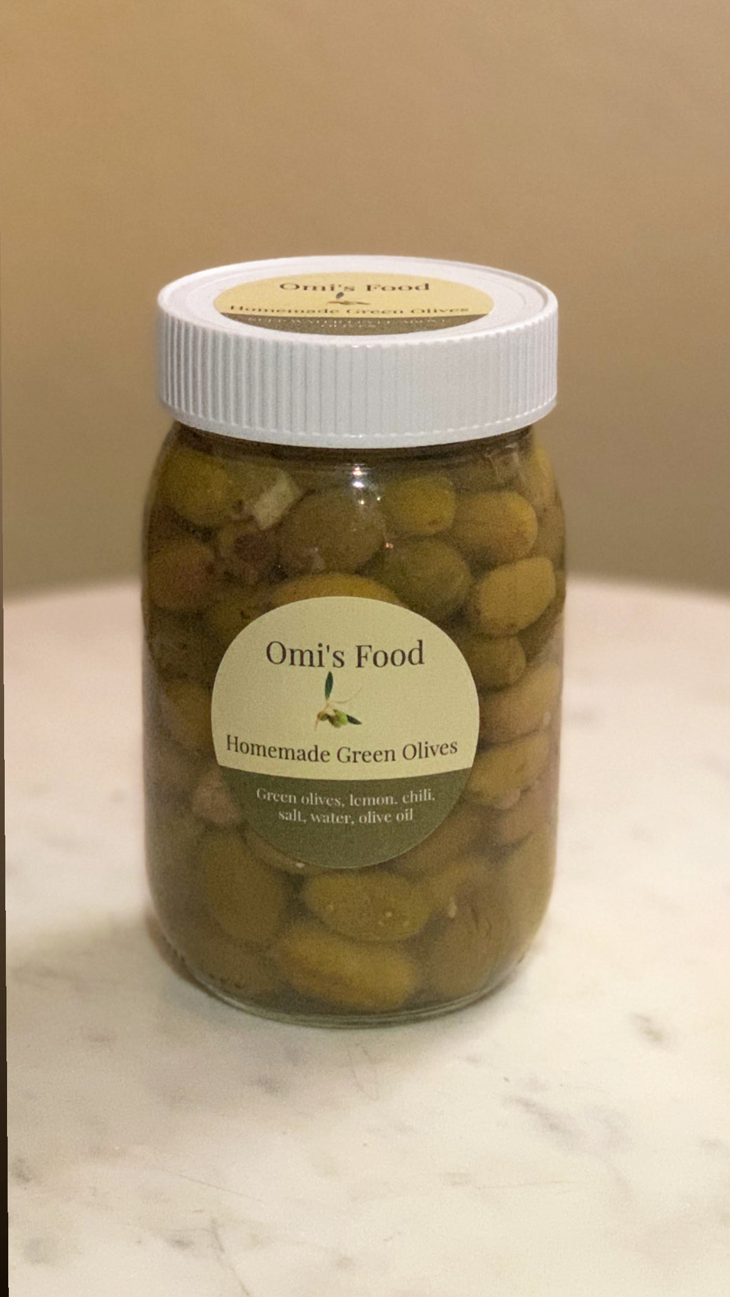 Homemade Green Olives 2020 Harvest