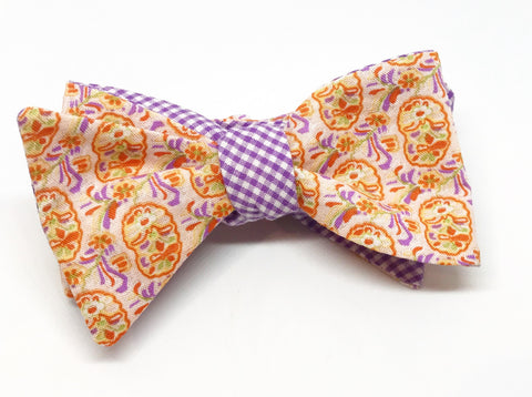 Liberty of London Paisley and Gingham Reversible Bow Tie
