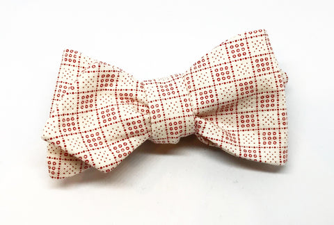 Vintage Graph Dot Bow Tie