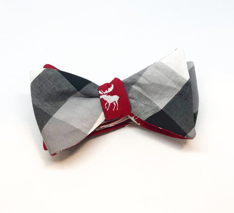 Buffalo Check Moose Bow Tie