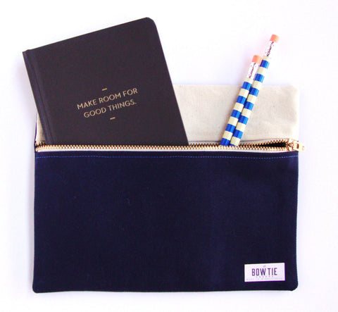 Travel Pouch in Deep Navy