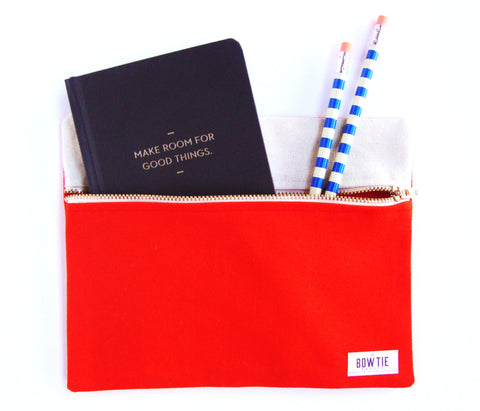 Travel Pouch in Bright Orange