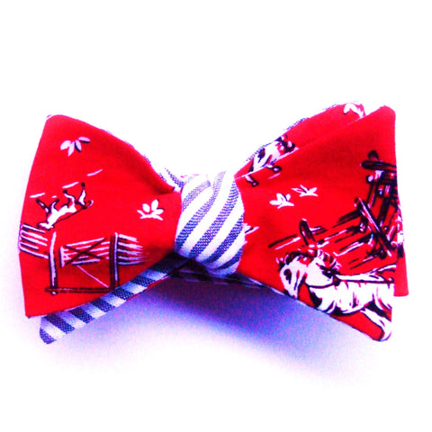 Giddy up!  Red Cowboy Bow Tie