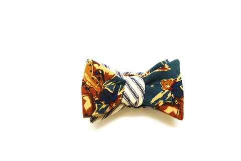 Giddy up!  Blue Cowboy Ticking Bow Tie