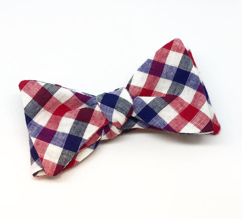 Large Check Bow Tie