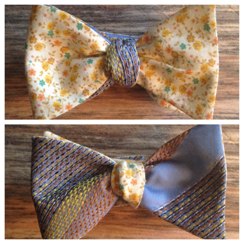 One of a Kind Ditsy Floral Bow Tie: Reversible