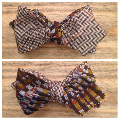 One of a Kind Houndstooth Bow Tie: Reversible