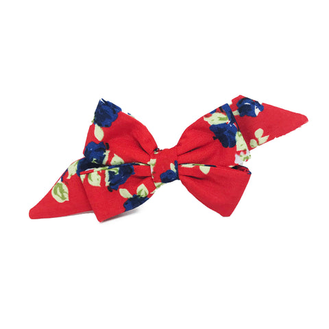 Mademoiselle Pet Bow in Pansy Garden