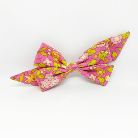 Mademoiselle Pet Bow in Pink Floral
