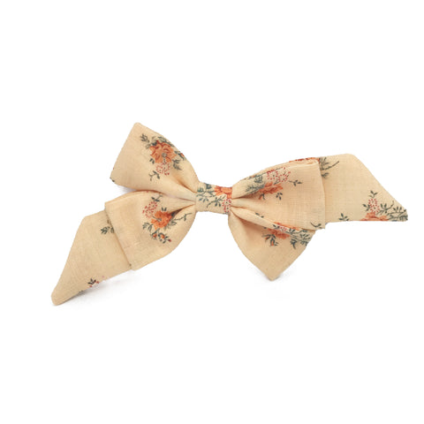 Mademoiselle Pet Bow in Vintage Peach Floral