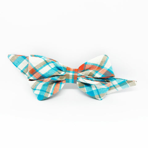 Mademoiselle Pet Bow in Aqua Madras