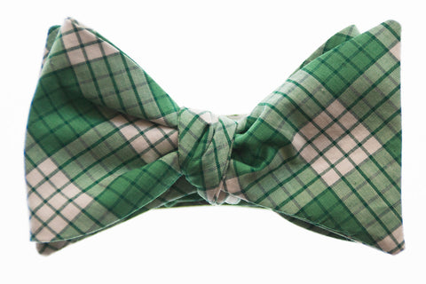 Kelly Green Check Bow Tie