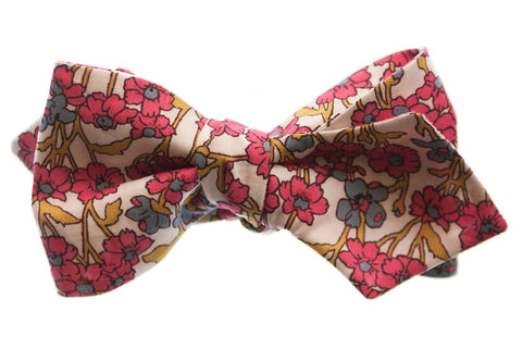 Pink Liberty London Floral Bow Tie