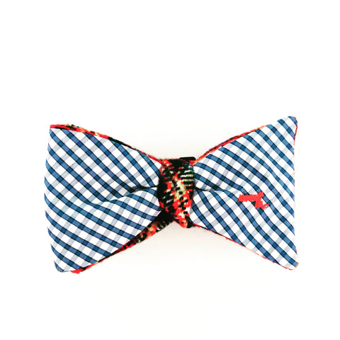 Massachusetts Plaid and Check Bow Tie