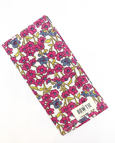 Liberty London Floral Pocket Square, Pink