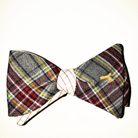 Harvard Boston College Plaid Bow Tie