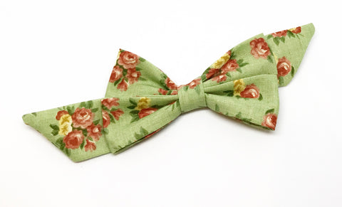 Mademoiselle Pet Bow in Spring Bouquet (green)