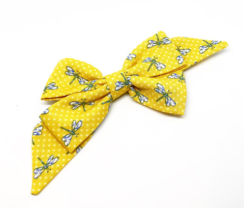 Mademoiselle Pet Bow in Dragonfly (yellow)
