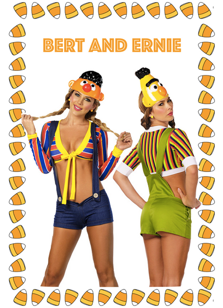 Sexy Bert and Ernie Halloween Costume