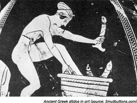 Ancient greek art with dildos