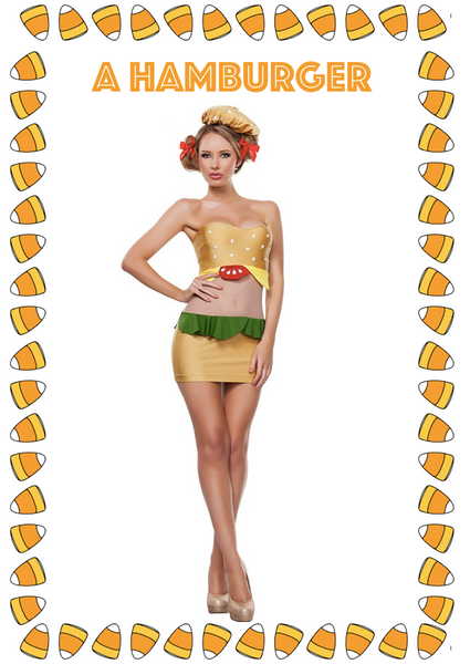 Hamburger Halloween Costume