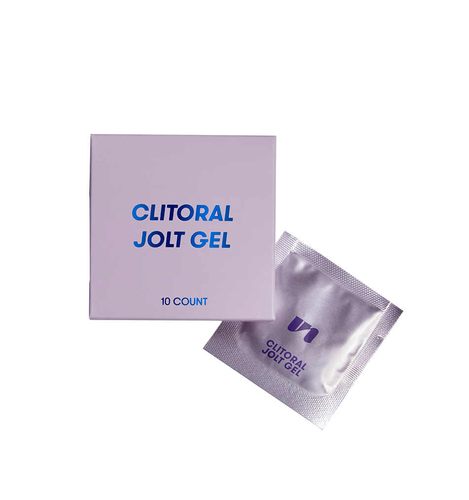 clitoral jolt gel foil and packaging