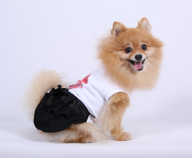 WHITE KISS ME DRESS FOR SMALL DOG