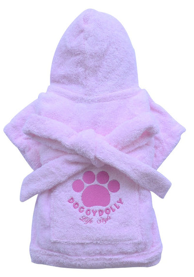 Pink Bathrobe for Small Dog