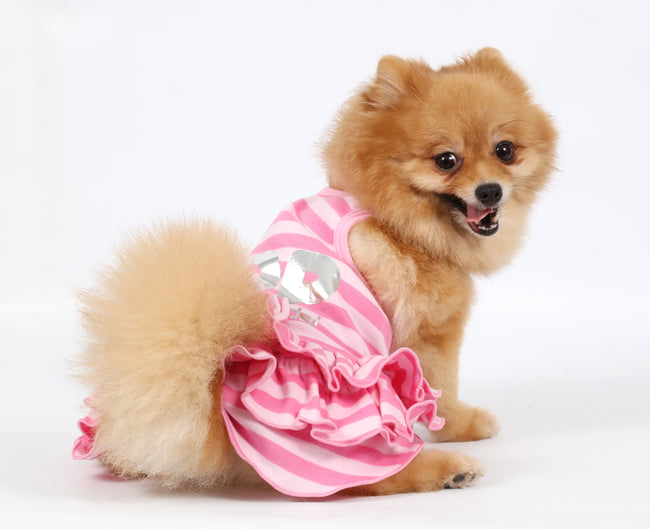 Top Model Sleeveless Cotton Dress for Small Dog
