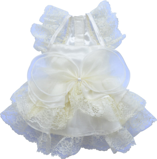 Cream Weeding Dress for Small Dog