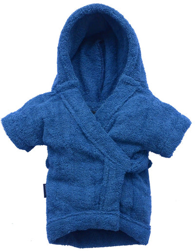 Blue Bathrobe for French Bulldog & Pug