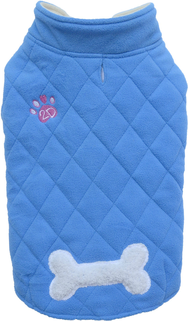 Double Fleece Blue Jacket for French Bulldog & Pug