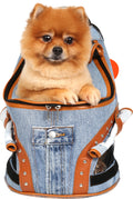 Demin Backpack Carrier for Boys and Girls Dogs