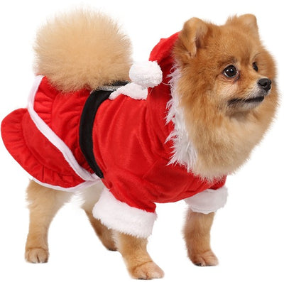 Santa Girl Red Dress for Small Dog