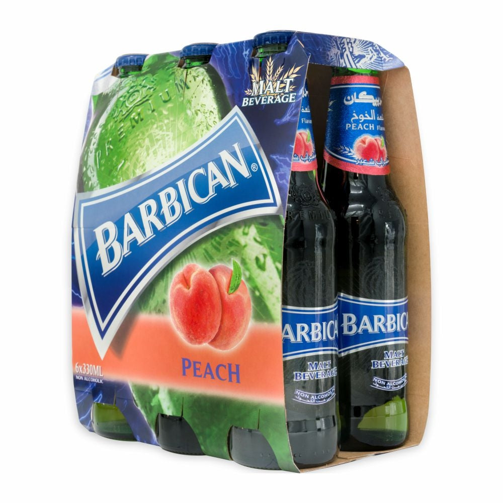 Barbican Peach 6 Bottles Pack