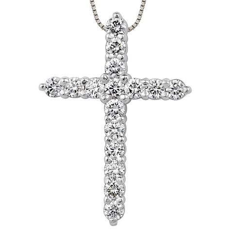 16 Diamond Cross Pendant