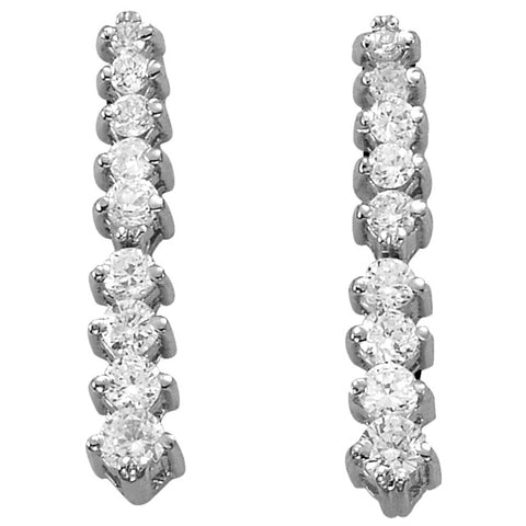 18 Diamond 2 Prong Flexible Journey Earrings