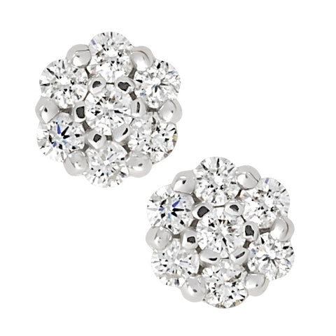 14 Diamond Cluster Earrings