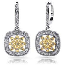 Load image into Gallery viewer, Dangle Diamond Earrings