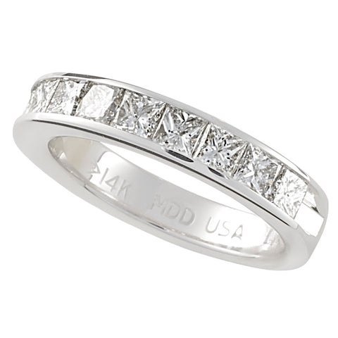 1o Princess Cut Diamond Machine Set Band