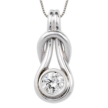 Load image into Gallery viewer, Love Knot Pendant with Center Diamond
