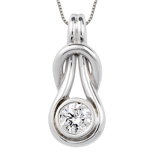 Love Knot Pendant with Center Diamond